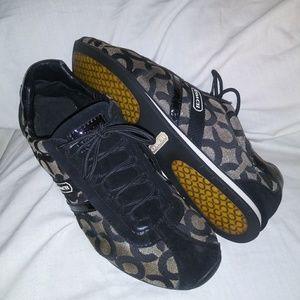 Coach 10M Kathleen Black & Silver Sneakers